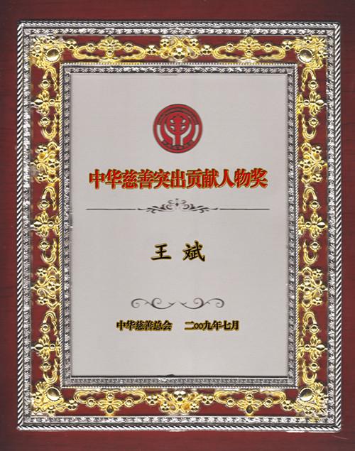 中华慈善突出贡献人物奖